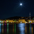 Old Town At Night by Viktor Estefan