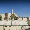 Old Town Citadel Walls Of Jerusalem Israel by Jacek Malipan