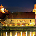 Old Town Of Ptuj Evening Riverfront View by Brch Photography