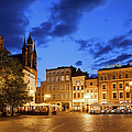 Old Town Square By Night In Torun by Artur Bogacki