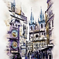 Old Town Square In Prague by Melanie D