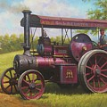 Old Traction Engine. by Mike Jeffries