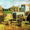 Old Tractor And Hay Rolls by Anna Louise