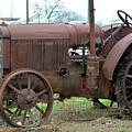 Old Tractor At The Crossroad by Kae Cheatham