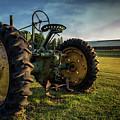 Old Tractor In The Field Outside Of Keene Nh by Edward Fielding