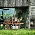 Old Tractor - Missouri - Barn by Nikolyn McDonald