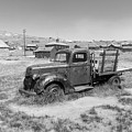 Old Truck At The Ghost Town Of Bodie California Dsc4380bw by Wingsdomain Art and Photography