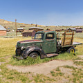 Old Truck At The Ghost Town Of Bodie California Dsc4380sq by Wingsdomain Art and Photography