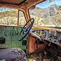 Old Truck Interior Nevada Desert by Edward Fielding
