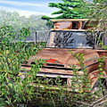Old Truck Rusting by Marilyn  McNish