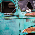 Old Turquoise Truck by Ashley M Conger