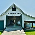 Historic U.s. Lifesaving Station Boathouse At Lewes Delaware by Kim Bemis