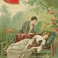 Old Victorian Era Valentine Card by Pd