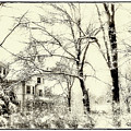 Old Victorian In Winter by Julie Palencia