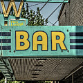 Old Vintage Bar Neon Sign Livingston Montana by Edward Fielding