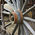 Old Waagon Wheel by Phyllis Denton
