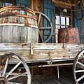 Old Wagon And Barrell by Kathy Kirkland