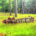 Old Wagon In Field by Doug Berry