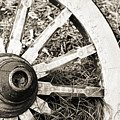 Old Wagon Wheel by Marilyn Hunt