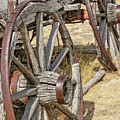 Old Wagon Wheels From Montana by Jennie Marie Schell