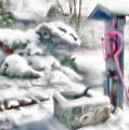 Old Water Pump In Winter by Gabriele Pomykaj