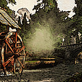 Old Watermill In The Forest by Andrea Mazzocchetti