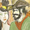 Old West Couple by James Christiansen