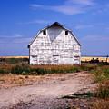 Old White Barn by Kathy Yates