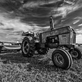 Old White Tractor In The Field by Thomas Visintainer