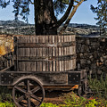 Old Wine Barrel And Wagon - Napa Valley by Mountain Dreams
