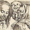Old Woman Scolding A Man by Johann Eleazar Schenau