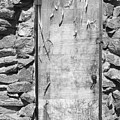 Old Wood Door  And Stone - Vertical Bw by James BO Insogna