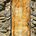 Old Wood Door And Stone - Vertical  by James BO Insogna