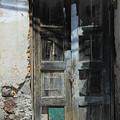 Old Wood Door In A Wall by Robert Hamm