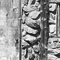 Old Wood Door Window And Stone In Black And White by James BO Insogna