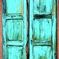 Old Wood Shutters, Santa Fe, New Mexico by Flying Z Photography by Zayne Diamond