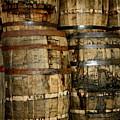 Old Wood Whiskey Barrels by Terry Fleckney