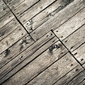 Old Wooden Boards Nailed by Jozef Jankola