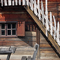 Old Wooden Cabin Log Detail by Goce Risteski