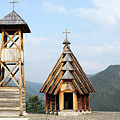 Old Wooden Church And Bell Tower by Goce Risteski