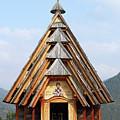 Old Wooden Church On Mountain by Goce Risteski
