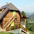 Old Wooden House On Mountain Landscape by Goce Risteski