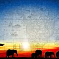 Old World Africa Cool Sunset by Dana Bennett