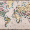 Old World Map On Mercators Projection by Richard Thomas