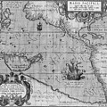 Old World Map Print From 1589 - Black And White by Marianna Mills