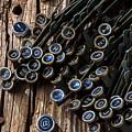 Old Worn Typewriter Keys by Garry Gay