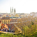 Old Zagreb Panorama In Morning Fog by Brch Photography