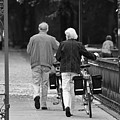 Older Couple In The Park by Edward Myers