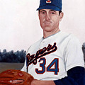 Older Nolan Ryan With The Texas Rangers by Rosario Piazza