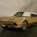Oldsmobile Toronado 1965 Painting by Paul Meijering
